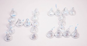 Hersheys Kisses Spelling Out Hi