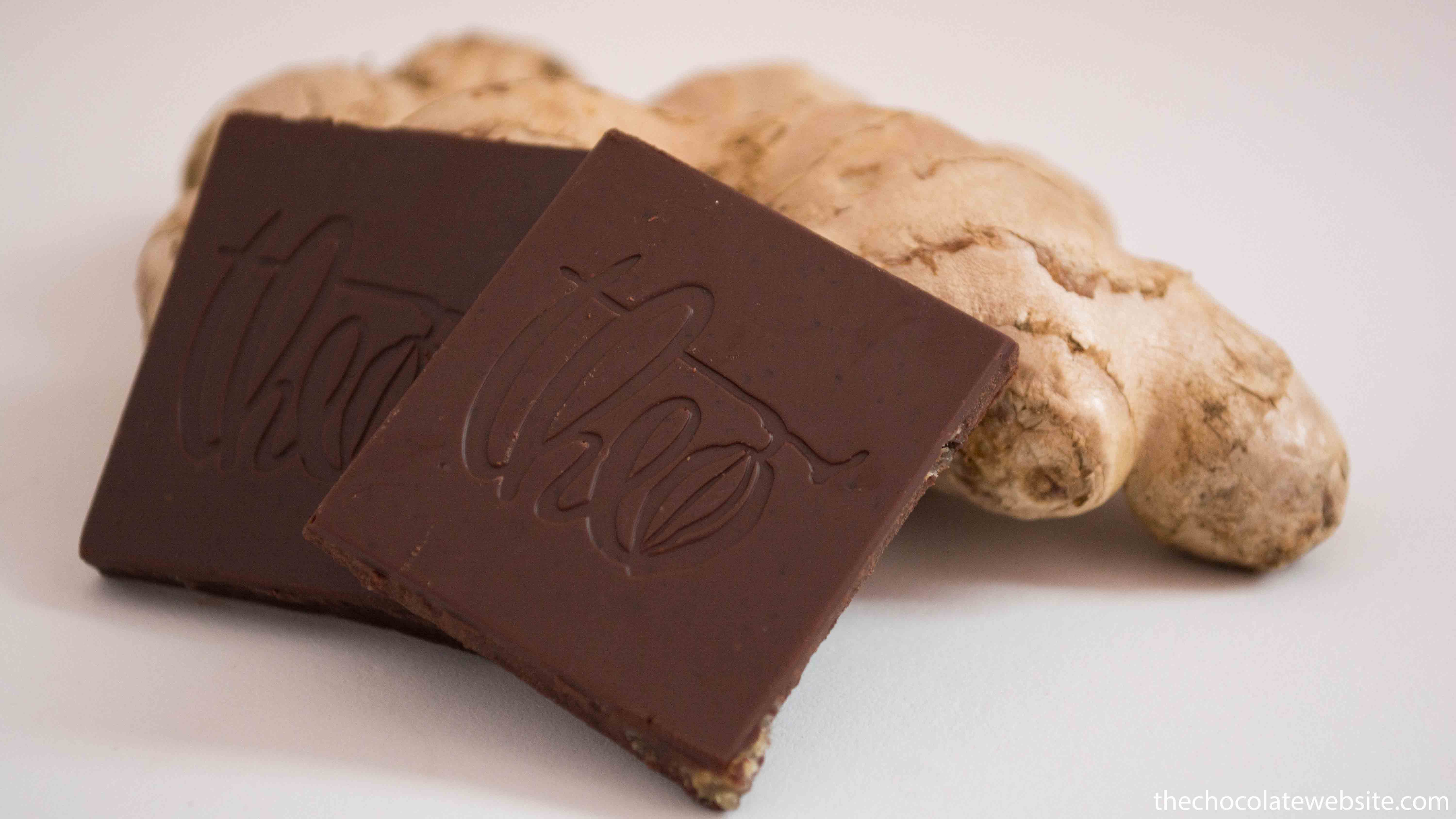 Theo Dark Chocolate with Ginger Unwrapped