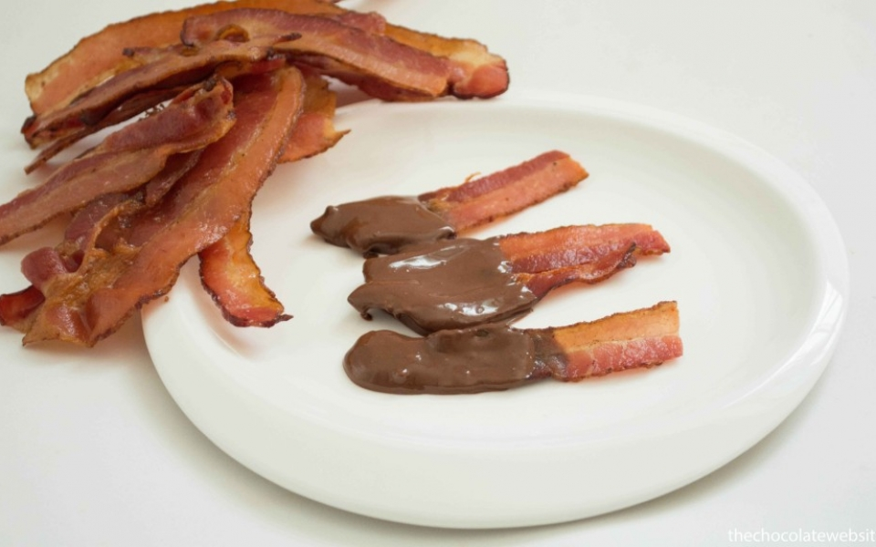 Foods Dipped in Chocolate - Bacon