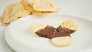 Foods Dipped in Chocolate - Potato Chips