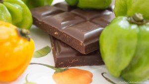 Mantuano Aji Dulce Chocolate Bar - Unwrapped